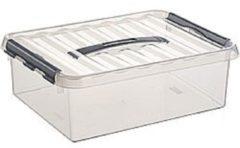Sunware Q-Line Opbergbox - 10L - Kunststof - Transparant/Metallic