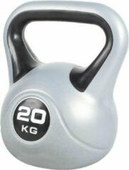 Grijze Gorilla Sports Kettlebell 20 kg Kunststof Trendy (extra stabiel)