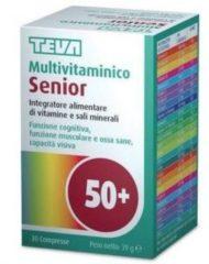 Teva italia MULTIVITAMINICO SENIOR 30 compresse 30CPR Integratore alimentare di vitamine e sali minerali TEVA
