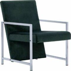 Luxe Fauteuil Velvet Fluweel Donkergroen / Loungestoel / Lounge stoel / Relax stoel / Chill stoel / Lounge Bankje / Lounge Fauteuil - Luxe Fauteuil