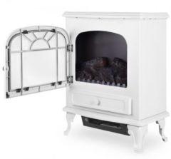 Witte Merkloos / Sans marque Deuba Elektrische schouw met ventilatorkachel en schoorsteeneffect 2000W