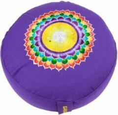 Paarse Yogi & Yogini Meditatiekussen violet 7e chakra geborduurd - 33x15 cm (kopie)