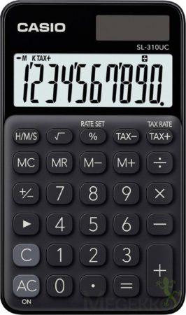 Afbeelding van Zakrekenmachine Casio SL-310UC Zwart Aantal displayposities: 10 werkt op zonne-energie, werkt op batterijen (b x h x d) 70 x 8 x 118 mm