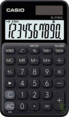 Zakrekenmachine Casio SL-310UC Zwart Aantal displayposities: 10 werkt op zonne-energie, werkt op batterijen (b x h x d) 70 x 8 x 118 mm