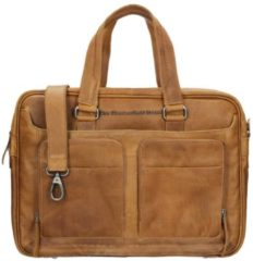 Chesterfield business tas laptoptas SAMUAL wax pull up Cognac