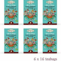 """Shoti Maa Elements """"Life on Wings-Libre Comme L'Air"""" Venkel Kardemom Sinaasappel BIO (6 doosjes)"""