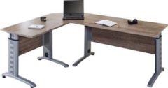 3-tlg Schreibtisch Set Computertisch Ecktisch Winkeltisch PC Tisch Bürotisch Braso 220 VCM Eiche-Trüffel