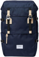 Sandqvist Harald Backpack navy with natural leather