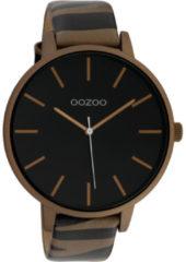 OOZOO Timepieces Horloge Zebra Brons/Zwart | C10242