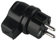 Bachmann CEE 7/7 geaarde haakse rubberen IP44 stroomstekker / zwart