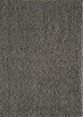 Licht-grijze Basic Collection Vloerkleed Grijs Effen Hoogpolig Tapijt Loca - 160x230cm