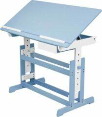 Tectake 400927 verstelbaar - Bureau - 109 cm - Blauw