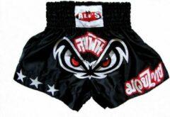 Zwarte Ali's Fightgear Ali's Fightgear TTBA-15 - Kickboks broekje met witte sterren maat S
