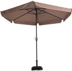 Lesliliving Outdoor Living Gemini Parasol - stokparasol - Ø300 cm - taupe