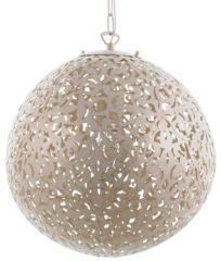 Beliani Mures Hanglamp Beige Metaal 40x40x93