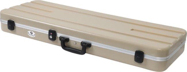 Afbeelding van De Fazley GC-EC500CW is gemaakt van ABS kunststof en een dikke laag pluche (zeven millimeter). Deze spatwaterdichter koffer is voorien van TSA sluitingen. Voor veilig opbergen en vervoer van jouw elektrische gitaar.