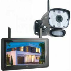 Zwarte ELRO CZ60RIPS Draadloze 1080P HD Beveiligingscamera Set - Met 9 inch monitor en App
