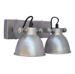 Zilveren Urban Interiors - Industri�le Wandlamp industrial double antique zink