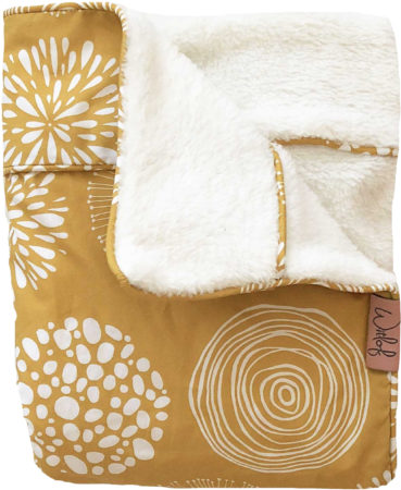 Afbeelding van Gele Witlof for kids Tuck-Inn® baby wiegdeken Sparkle Sweet Honey/offwhite