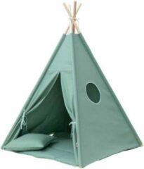 Wigiwama Tipi Tent / Speeltent Kinderkamer Olive groen - Speeltent voor Kinderen - Kindertent - Indianentent - Wigwam 100x100x120cm