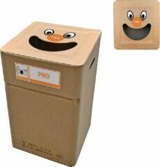 Naturelkleurige Afvalbox Kartonnen afvalbak PMD/plastic type smile (herbruikbaar)