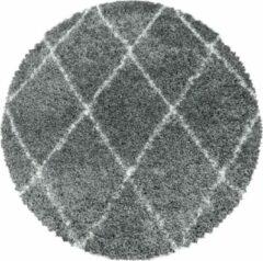 ALVOR SHAGGY Himalaya Harmony Soft Shaggy Rond Hoogpolig Vloerkleed Grijs- 80 CM ROND