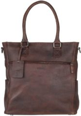 Bruine Burkely Damestas schoudertas ANTIQUE AVERY | SHOPPER Bruin