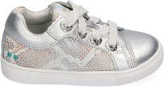 BunniesJR Lois Louw Meisjes Sneakers - Maat 21 - Zilver - Sneakers - Stap Bunnies - Leer - Veters - Kindersneakers/Kinderschoenen