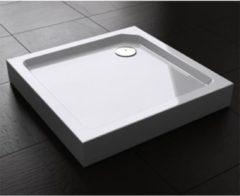 Douche Concurrent Douchebak Best Design Vierkant 90x90x14cm SMC Glans Wit met Verstelbare Potenset