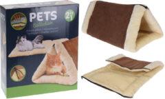 Bruine Pets Collection Kattenkussen - Kattenhuisje