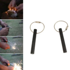 Meco IPRee® EDC Keychain Flintstone Fire Ignitor Starter With Bead Ring Outdoor Survival Kits