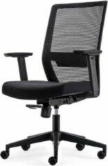 Zwarte Albeka Moderne Bureaustoel Slim - Comfort Netrug + Veel Functies