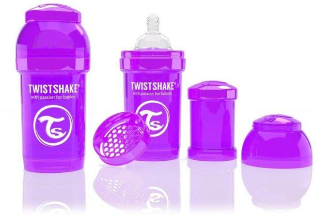 Afbeelding van Paarse Twistshake Anti-colic babyfles - Purple Bestie 260ml