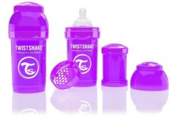 Paarse Twistshake Anti-colic babyfles - Purple Bestie 260ml