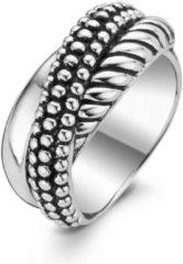 Zilveren TI SENTO Milano Ring 1973SB - Maat 54 (17,25 mm) - Gerhodineerd Sterling Zilver