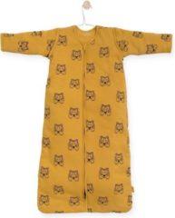 Gele Jollein Tiger Padded Babyslaapzak met afritsbare mouw - 90 cm - mustard