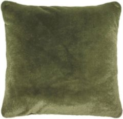 ESSENZA Furry Sierkussen Vierkant Mosgroen - 50x50 cm