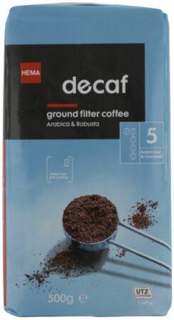 Afbeelding van HEMA Filterkoffie Decaf - 500 Gram