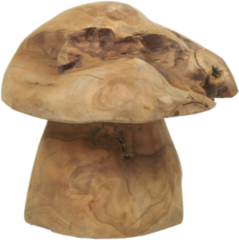 HSM Collection - Decoratieve paddenstoel large - old wood - oud teak