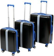 MONOPOL® Hartschalentrolley-Set mit 4 Doppelrollen, »Korsika« (3-tlg.)