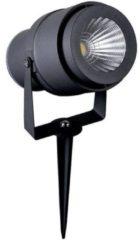 Antraciet-grijze V-Tac LED Prikspot 12 Watt IP65 - 720lm - 4000K Neutraal Wit Licht - Waterdicht - Antraciet