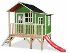 Groene EXIT Huis op palen EXIT Loft 350 groen met veranda