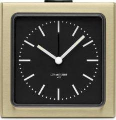 LEFF amsterdam - Block Clock - Klok - Alarm - Goud/Zwart - Design - Staande Klok