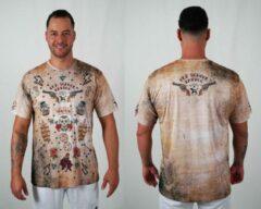 Beige Bones Sportswear Heren T-shirt Western maat S