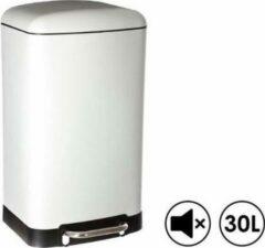 Made4Home® – Pedaalemmer | Prullenbak | Vuilbak | 30L (liter) | Wit | Geruisloos deksel | Softclose | Anti-slip | Grote pedaal | Verwijderbare binnenemmer