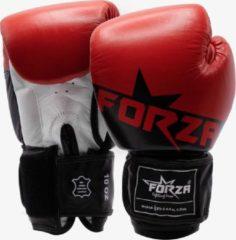 Forza Fighting Gear FORZA STAR HOGE KWALITEIT LEREN BOKSHANDSCHOENEN - ROOD