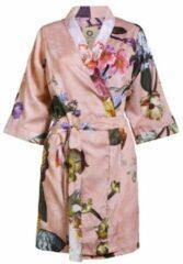 Roze Essenza Fleur kimono van katoen met bloemendessin