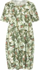 Green Cotton Jerseyjurk van 100% katoen met bladerprint Van groen Cotton groen