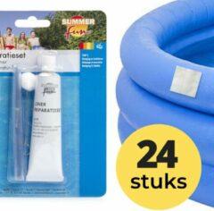 24x Zwembad Onderhoud - Liner Lijm Plakkers Reparatie Set - Geschikt voor Opblaasbaar Zwembad en speelgoed - Pless®