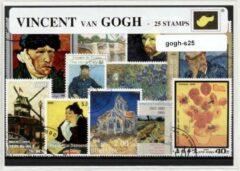 Transparante KLOMP G.T.P Vincent van Gogh - postzegelpakket cadeau met 25 verschillende postzegels